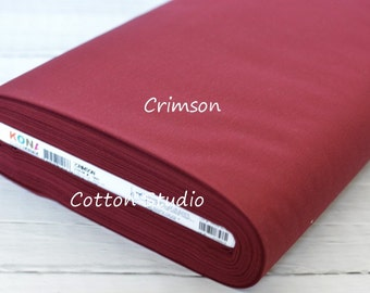 Kona Cotton K001-1091  Crimson solid fabric Yardage 1 Yard Robert Kaufman