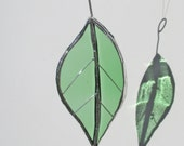 Bright Green Beech Leaf - Upcycled Stained Glass Suncatcher