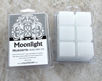 Moonlight Wax Melts, Strong Paraffin wax tarts, Jasmine Musk and floral, white wax melts