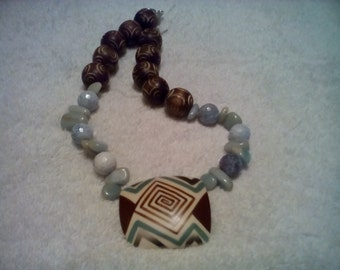 African Tribal Statement Necklace.