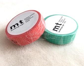 mt Washi Masking Tape - mt deco 2015 Autumn - Line Pattern - Red / Green