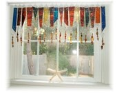 Art Glass with Class NUMBER TWO  Stained Glass Window Treatment Valance Curtain