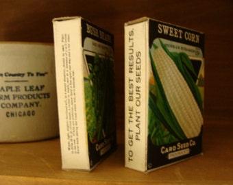 Vintage Cardboard Farmhouse Seed Boxes Unused Lot