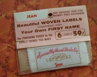 Vintage Handmade Labels for Jean