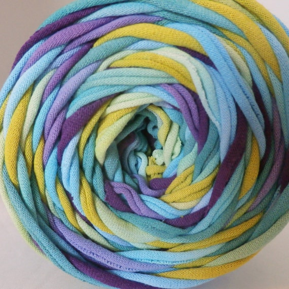 Hand dyed t shirt yarn peacock 60 yards from for T shirt printing st charles mo