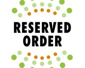 Reserved order for ADRIANNE DEPIAZZY