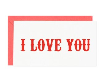I Love You Mini Enclosure Card