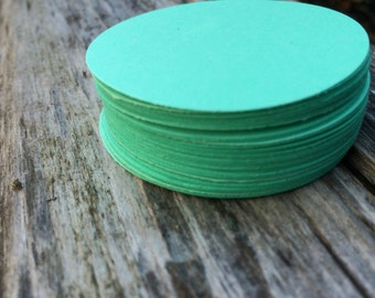 """Mint 2"""" paper circles, tags, wedding tag, gift tag, label, price tag, party decor, embellishment"""