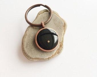mustard seed keychain - copper mustard seed key chain - mustard seed faith - matthew 1720 - christian gifts under 20 - bible verse jewelry