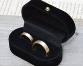 velvet double ring box, classic double ring box, wooden double ring box for wedding ring sets, presenting your rings, gift box from England