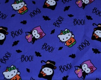 Fat Quarter Halloween Hello Kitty Fabric