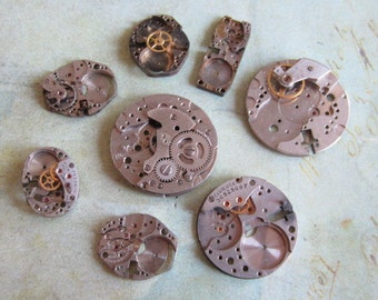 Featured - Steampunk supplies - Watch movement parts - Vintage Antique Watch parts Steampunk - Scrapbooking g99