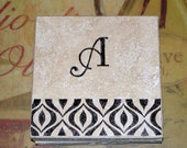 Absorbent Personalized Coaster Custom Stone Coasters Monogrammed Wedding Coaster Gifts Home Decor Drink Coasters Tribal Print Tile Coasters