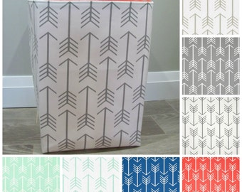 "13""x13""x19"" Laundry Hamper - Laundry Basket - Laundry Bag - XXL Basket - Toy Bin - Storage - Nursery - Home Decor- Create Your Own - Arrows"