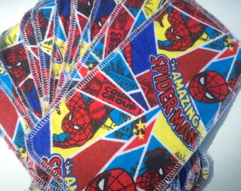 10 MamaBear Reusable Cloth Wipes Set - The Amazing Spiderman