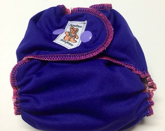 MamaBear Quick Dry Newborn/Preemie Diaper - AIO - Purple