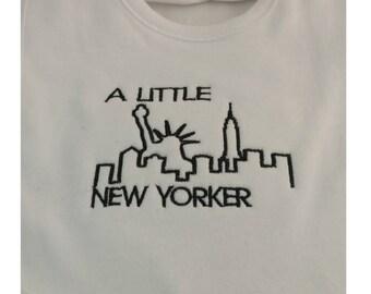 A Little New Yorker Bib - NYC Skyline - Big Apple Bib-