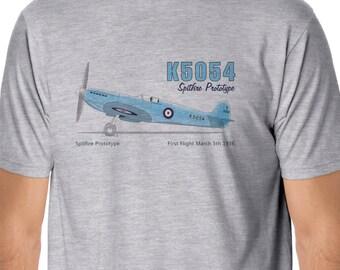 K5054 Spitfire Prototype Aircraft T-shirt