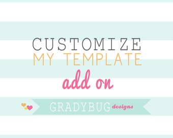 Customize My Order - Add on