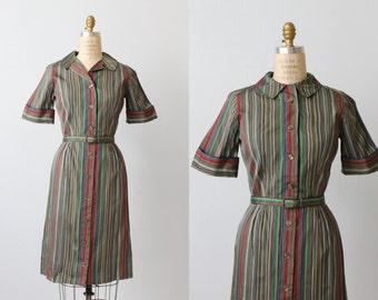 1960s Vintage Dress / Shirtwaist Dress / Day Dress / Pixie Stix
