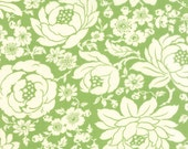 WINTER SALE - 6 yards - Hello Darling - Floral in Light Green (55110-15) - Bonnie and Camille for Moda Fabrics