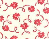 WINTER SALE - Hello Darling - 1 Yard - Floral Ribbon in Cream (55116-21) - Bonnie and Camille for Moda Fabrics