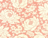 WINTER SALE - Hello Darling - 1 Yard - Floral in Coral (55110-17) - Bonnie and Camille for Moda Fabrics