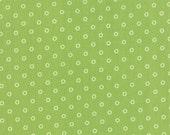 WINTER SALE - 2 7/8 Yards - Hello Darling - Dots in Green (55115-15) - Bonnie and Camille for Moda Fabrics