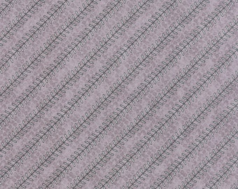 SUMMER SALE - 1 1/8 yards - Varsity - Play Ball in Concrete Gray (5594 16) - Sweetwater for Moda Fabric