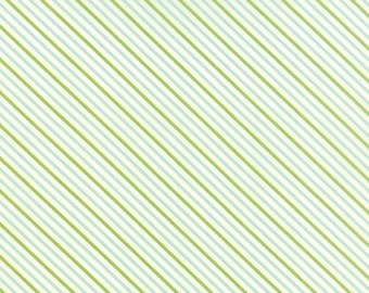 SPRING SALE - Hello Darling - 1 Yard - Stripe in Green Aqua (55112-16) - Bonnie and Camille for Moda Fabrics