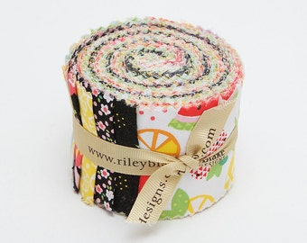 SUMMER SALE - 40 Strips - Rolie Polie - Fresh Market - Bella Blvd - Riley Blake Designs