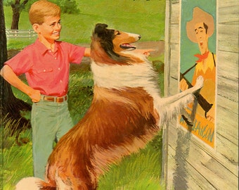 1958 Children's Book LASSIE And The Secret of the Summer TV Show Edition WHITMAN #1589 Glossy Hardcover Vintage