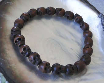 MEN'S SKULL BRACELET, yoga, tribal, boho