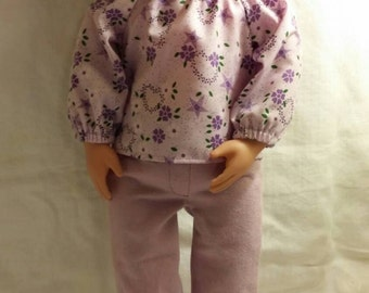 Blouse and jeans for 18 inch doll