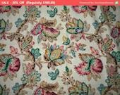 30% Off SALE- Gorgeous Vintage Fabric Cotton Jacobean Floral English Panel