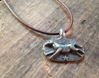 Ever the bravest Horse Necklace