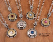 Bullet Jewelry - Conservative, Yet Edgy 44 Mag, 45 Auto, 45 Colt Single Bullet Casing Pendant Necklace - BEST SELLER - Swarovski Crystals