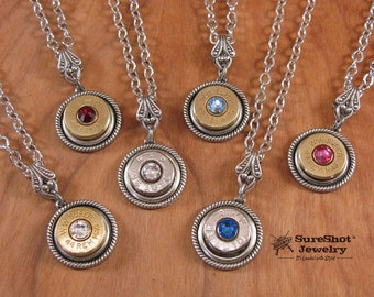 Bullet Jewelry - Best Quality Single Bullet Casing Pendant Necklace - Prettiest on the Market! - BEST SELLER for 5 Years