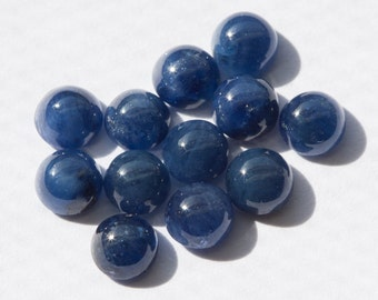 ONE Beautiful Blue Sapphire Round Cabochon - 4mm