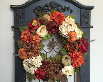 WREATH, Wreaths, FALL Wreath, Front Door Wreaths, Holiday Home Decor, Thanksgiving Wreath, AUTUMN Wreaths, Fall Home Decor, Wreaths for Fall