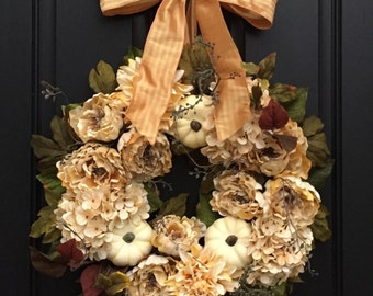 Decorative Wreaths, Outdoor Wreath, Champagne WEDDING Decor, Wreath, Wedding Centerpiece, FALL Weddings, Fall Wreaths, Fall Accents, Wreaths