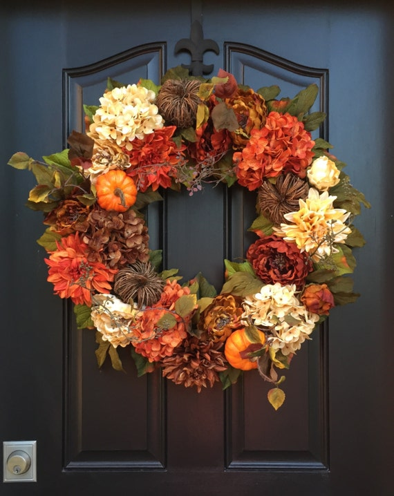 Autumn wreaths fall hydrangea wreath fall wreaths fall Fall autumn door wreaths