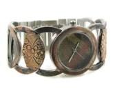 Women's brass Watch, copper Dial-hand made watch-cuff watch rustic watch-wrist watch-hand crafted-brass watch-gift for her-band strap watch