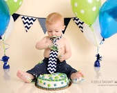 Navy Blue & White Bunting Banner, Nautical or Vintage Airplane Birthday Party Flags, Boy's Modern Nursery Decoration, Baby Shower Decor