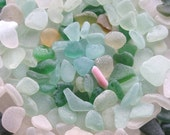 175 Natural Sea Glass Shards Imperfections Art Mosaic and Craft Supplies (1779)