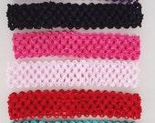 Stretchy woven headbands- Infant hair accessory- Girls headband- hair bow - baby elastic headband- Eight colors to choose from