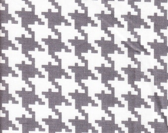 Michael Miller Everyday Houndstooth Gray  - Fabric 1 yard off of bolt (more available)