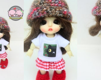 Lati White BASIC Outfits (T-shirt and  skirt)