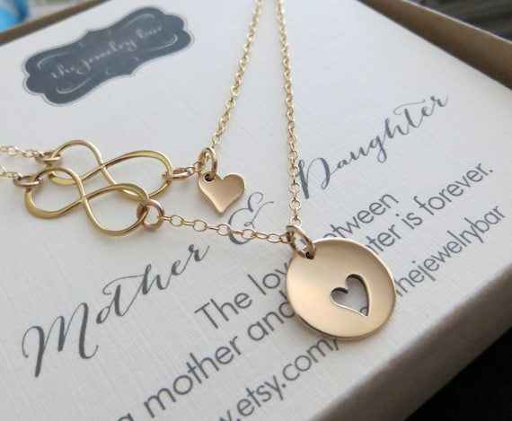 Wedding Shower Gift Ideas For Daughter : Bridal shower gift from mother of the bride, mom daughter necklace ...