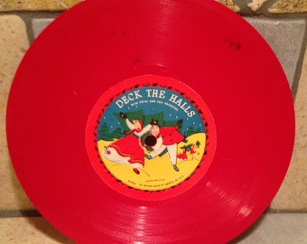 Deck the Halls and Come All Ye Faithful Children's Record by Record Guild of America